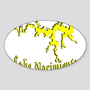 LAKE NACIMIENTO [4 yellow] Sticker (Oval)